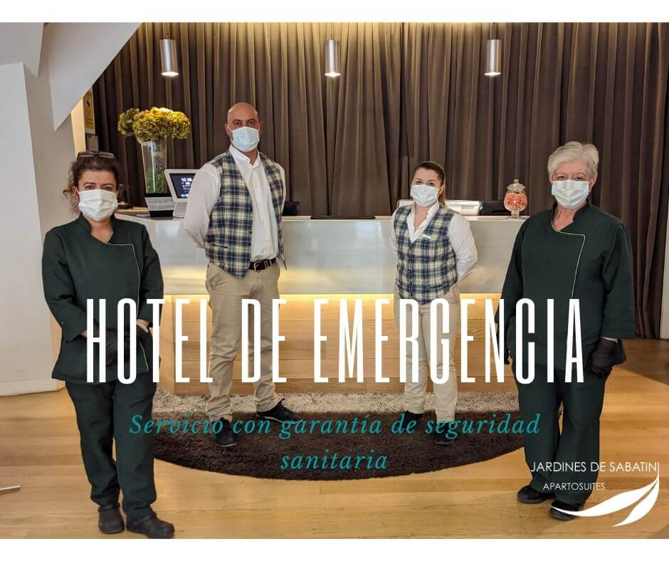 Emergency hotel in Madrid during COVID Crisis