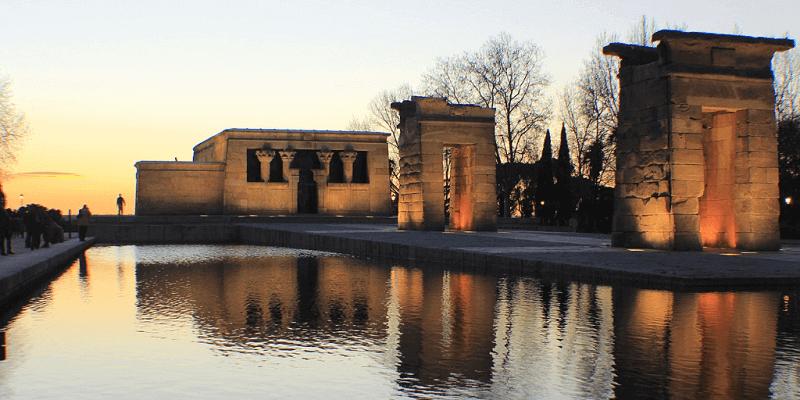 Atardecer en el Templo de Debod Madrid